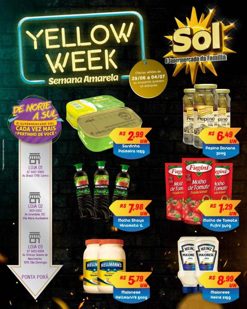 Supermercado Sol e as ofertas da semana amarela
