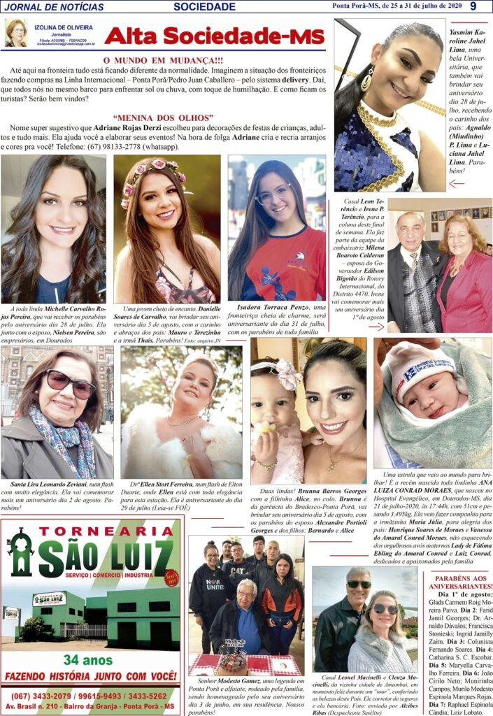 Coluna Social: Alta Sociedade com Izolina de Oliveira
