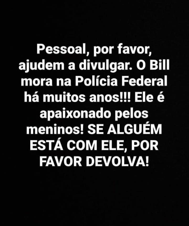 Mascote da Polícia Federal desaparece em Ponta Porã