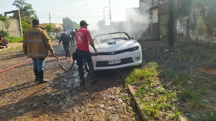 Vídeo: Carros são incendiados em diversos pontos em Pedro Juan Caballero