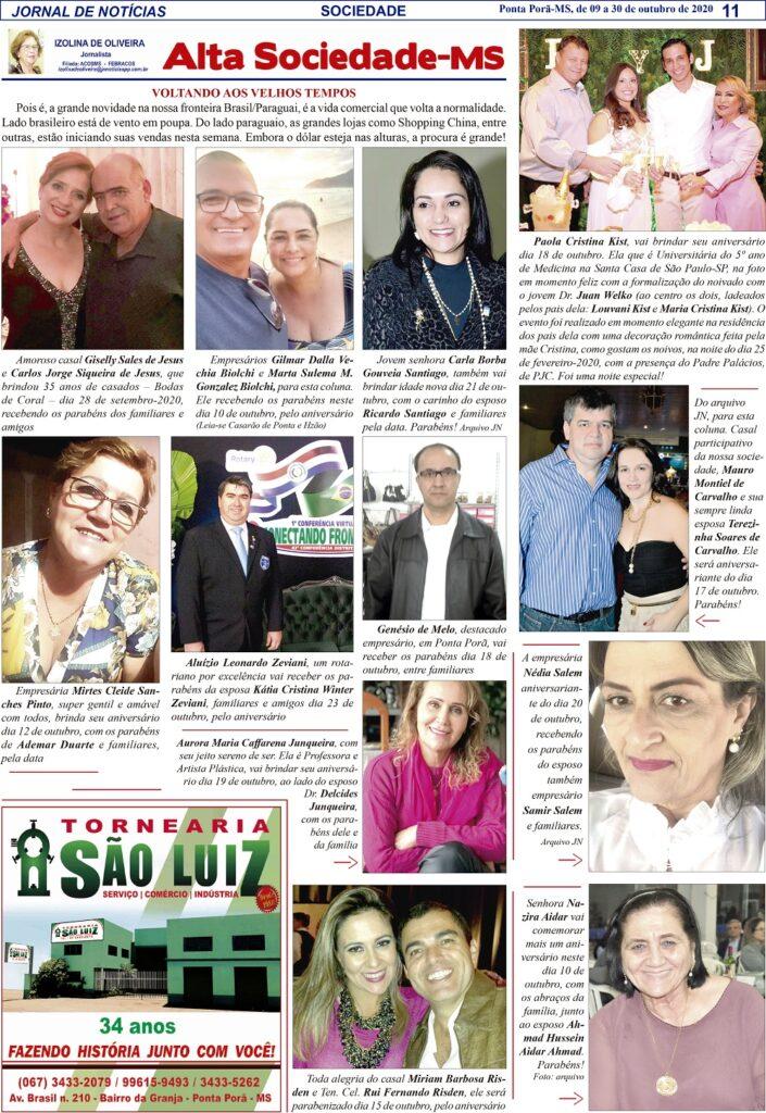Confira Alta Sociedade com Isolina de Oliveira