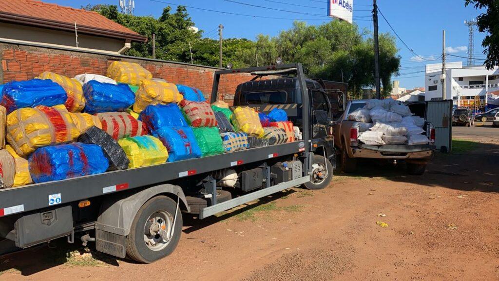 PF apreende mais de 5,5 toneladas de maconha em funilaria em Ponta Porã