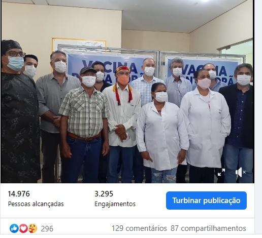 Indígena, idoso e profissionais da saúde receberam vacina contra Covid em Ponta Porã