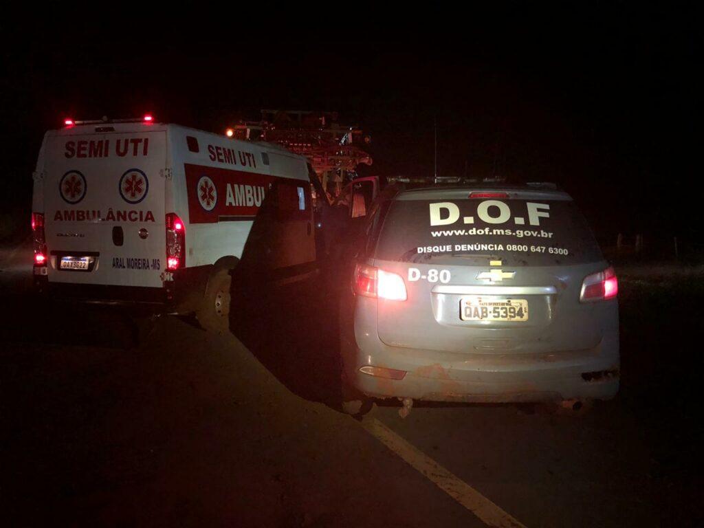 DOF auxilia na retirada de ambulância atolada e desaparecida há mais de 30 horas na Fronteira