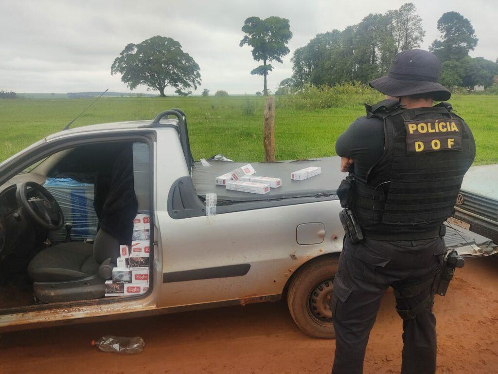 Veículos com cigarros e agrotóxicos contrabandeados foram apreendidos pelo DOF