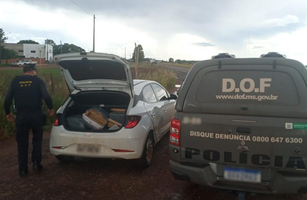 Em Ponta Porã, casal é preso com carro cheio de drogas