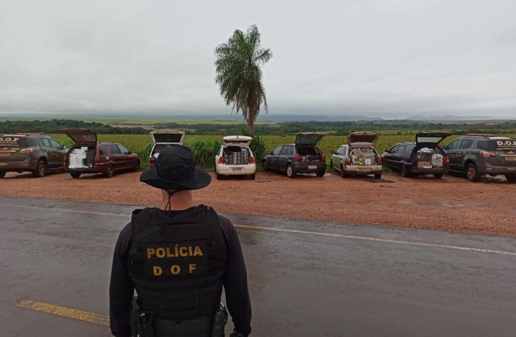 Em Ponta Porã, comboio de 6 carros é apreendido com contrabando