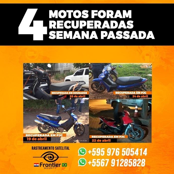 Ponta Porã: Frontier Security recupera sua moto furtada ou roubada rapidamente