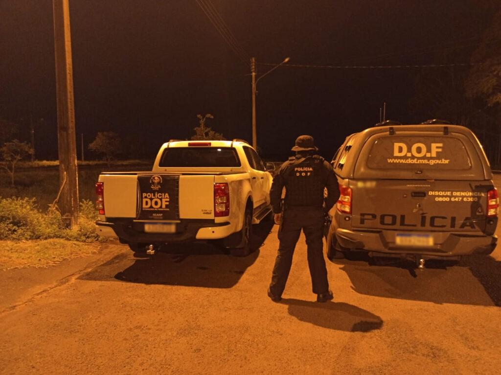 Em Ponta Porã, caminhoneta roubada no PR com refém é recuperada pelo DOF