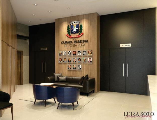 Câmara de Vereadores de Ponta Porã passa por reforma e modernização do espaço