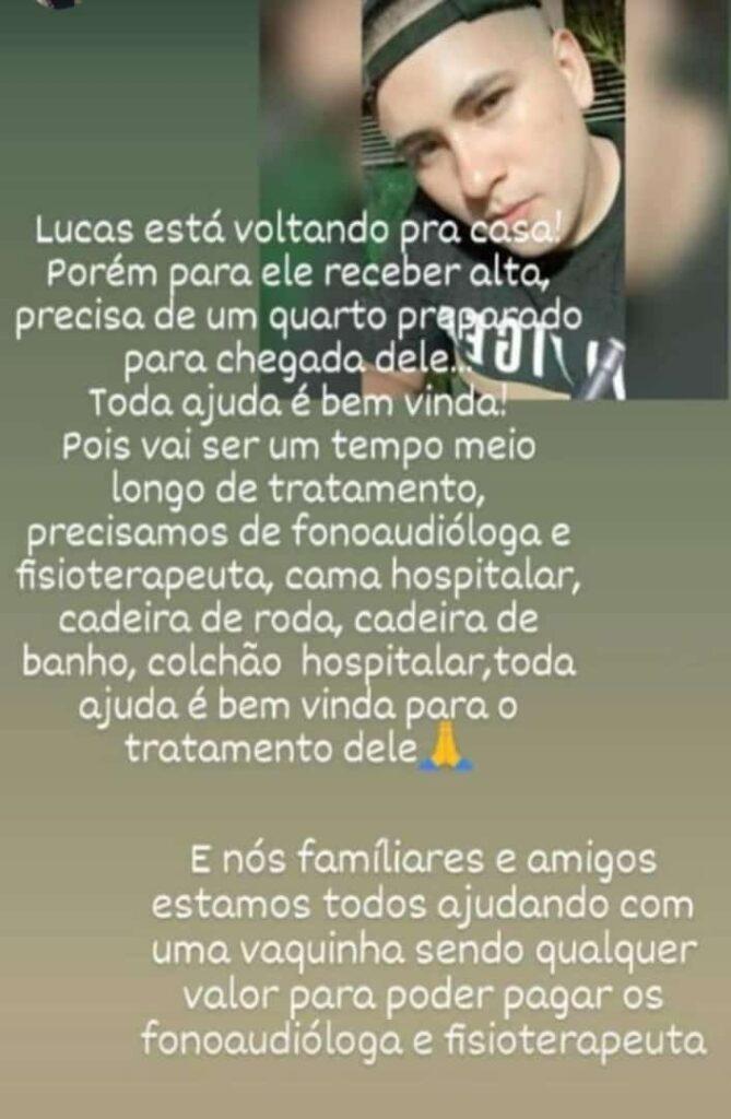 Ponta Porã: Lucas sobreviveu ao grave acidente e agora precisa de ajuda