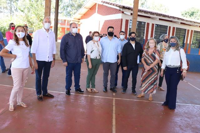 Hélio recebe visita de Secretárias de Estado e anuncia construção de 25 novas salas de aula em Ponta Porã