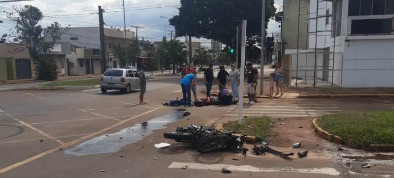 Em Ponta Porã, acidente de trânsito deixa duas pessoas feridas