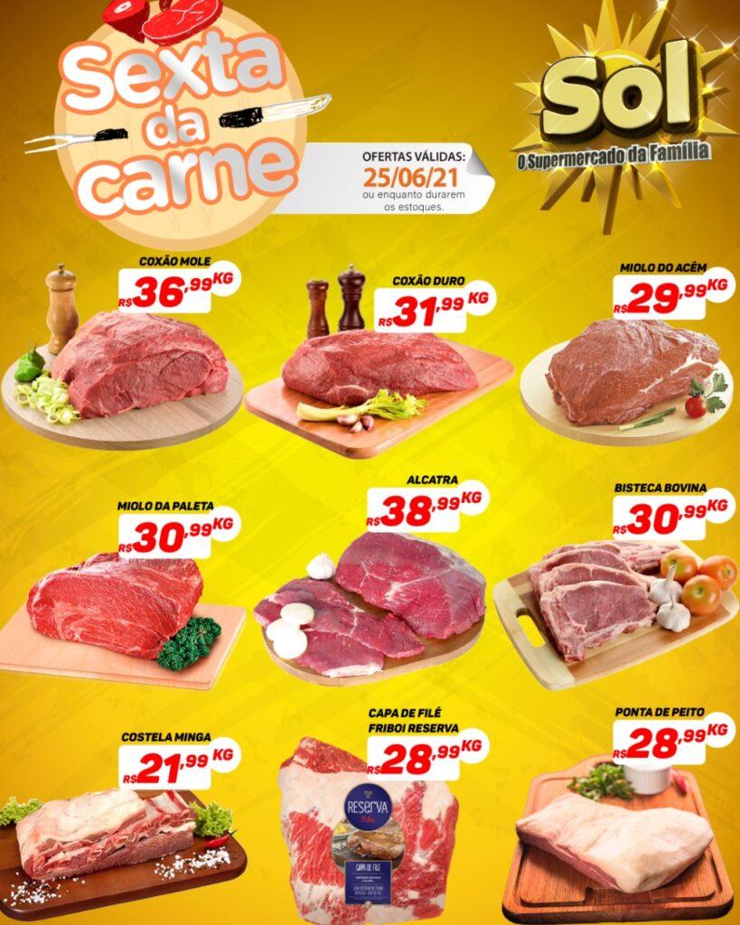Confira as ofertas da sexta da carne no Supermercado Sol