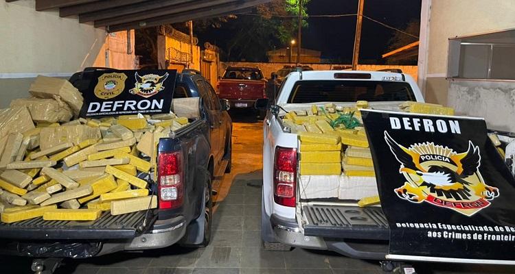 Ponta Porã: Durante ação, Defron prende 06 pessoas e grande quantidade de maconha