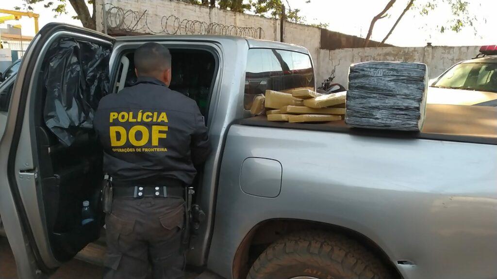 Em Ponta Porã, DOF apreende camionete carregada com mais de uma tonelada de maconha