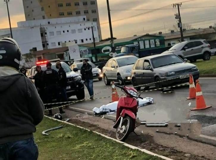 Acidente no Trevo da Cuia em Ponta Porã faz uma vítima fatal