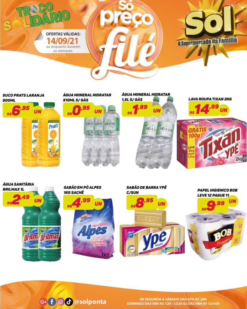 Supermercado Sol e as ofertas da terça só preços filé