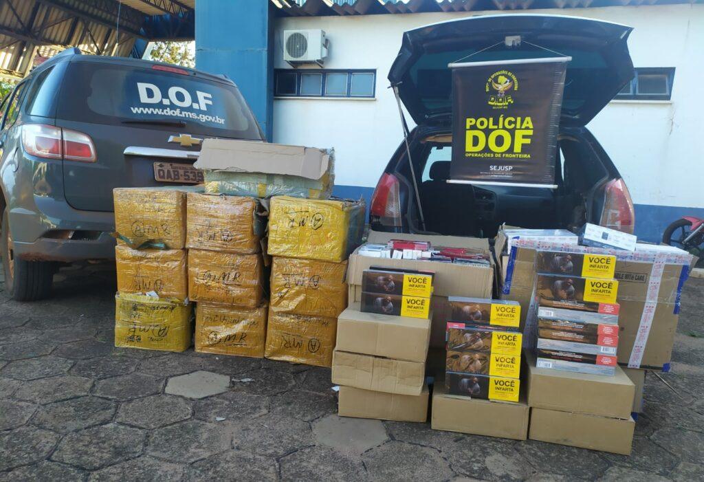 Veículo com mercadorias ilegais avaliadas em 140 mil reais foi apreendido em Ponta Porã