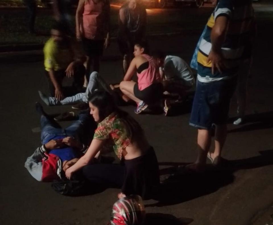 Agora:Violento acidente de trânsito envolvendo  moto em Ponta Porã