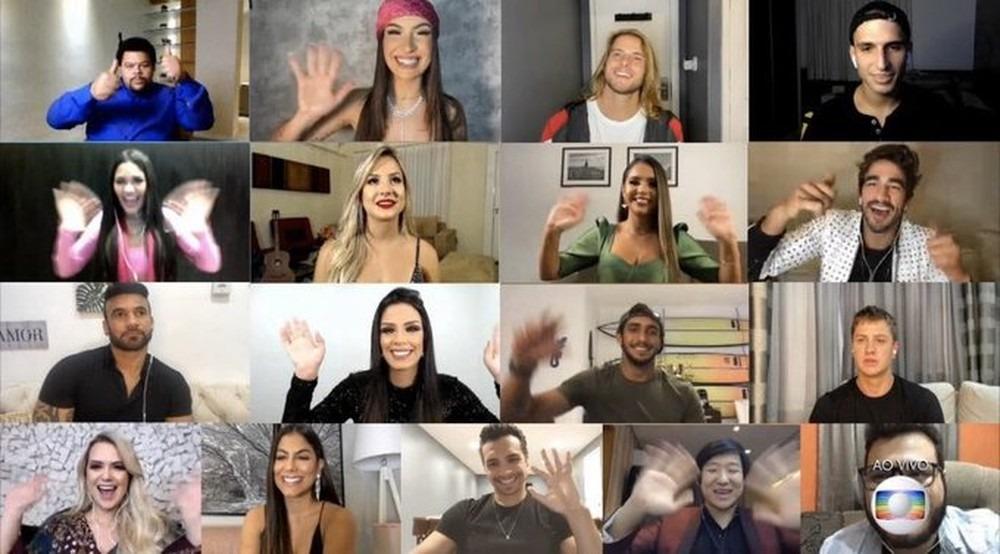 Participantes eliminados do 'BBB20' participam da final através de vídeo — Foto: Reprodução/Globo