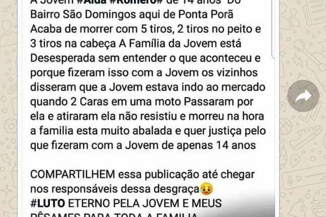 Em Ponta Porã, falso assassinato divulgado nas redes sociais vira caso de polícia