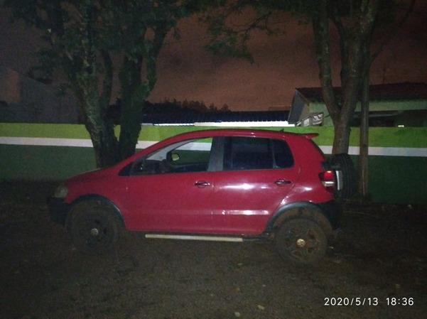 Circulando em Ponta Porã, carro com placas do Paraguai é apreendido por registro de roubo