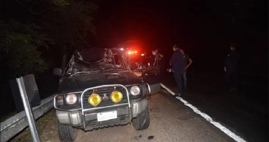 Violento accidente de tránsito en Ypacaraí