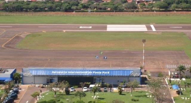 Aeroporto de Ponta Porã não registrou voos regulares neste ano. (Foto: Infraero/Reprodução)