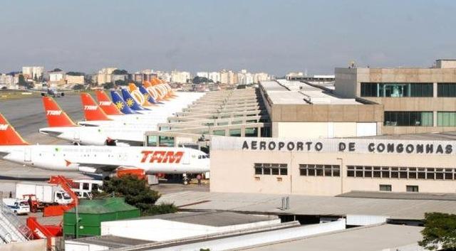 Congonhas seria o chamariz em licitação: quem o comprar, levaria os aeroportos do Estado. (Foto: Valter Campanato/Agência Brasil)