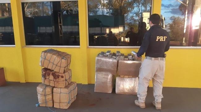 PRF em São Gabriel do Oeste (MS) apreende 327,5 kg de maconha que seriam levados para Cuiabá