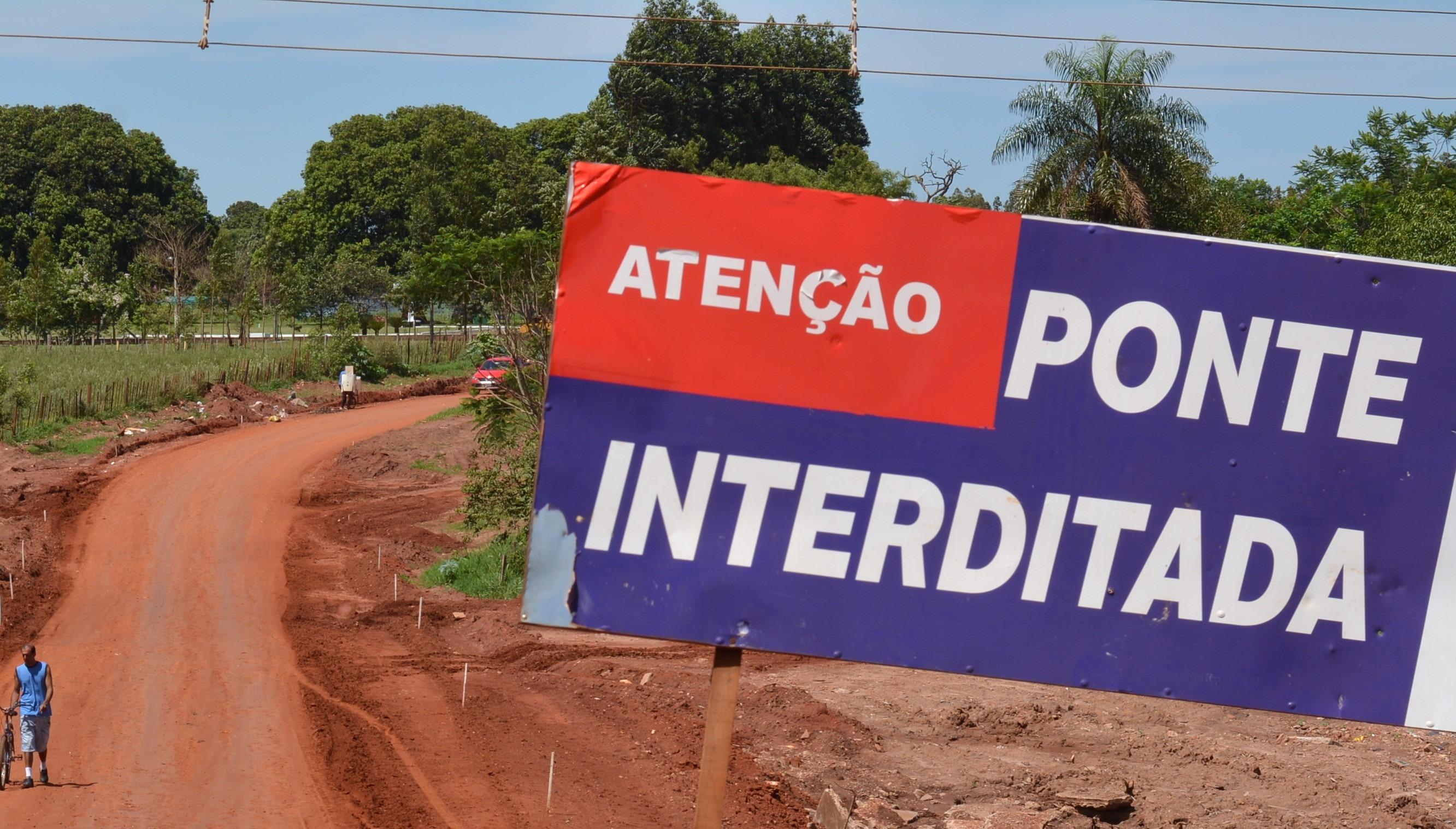 Ponta Porã: Ponte na São Vicente de Paula será  interditada para conclusão da obra