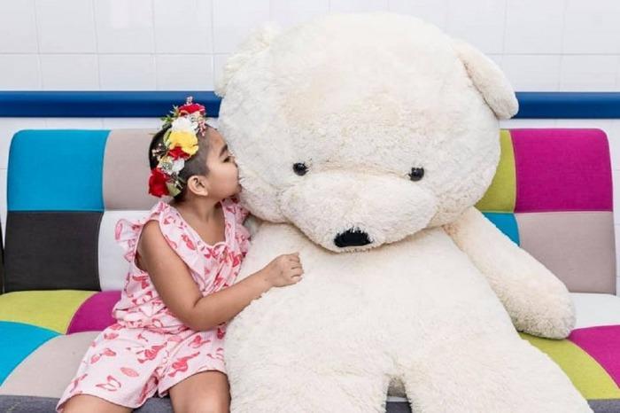 Camila es una de la niñas cuya historia se destaca en la campaña de concientización de Febrero Dorado.Foto: Fundación Renaci.